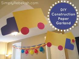 Cheap Easy Construction Paper Birthday Party Decorations