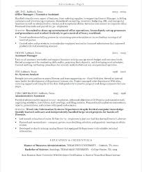 Resume Examples Medical Administrative Assistant Objectives For Assistants Executive Simple Res