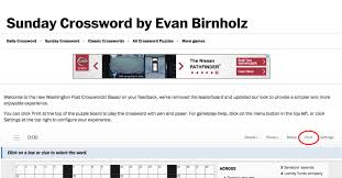 Print the online Crossword – The Washington Post