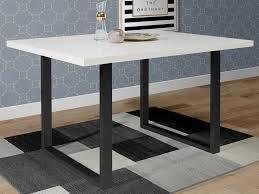 möbelando esszimmertisch küchentisch speisetisch holztisch esstisch tisch talbert v weiß matt schwarz
