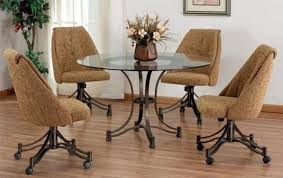 Wonderful Dining Chair On Casters Awesome Dining Chairs With Casters