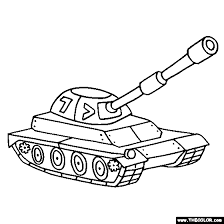 Free Heavy Armored Military Tank Coloring Page