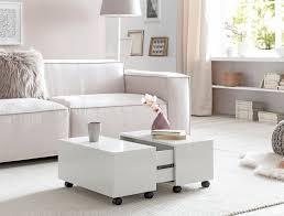 finebuy couchtisch 60 x 60 cm weiß hochglanz rollbar mit schublade wohnzimmertisch mit staufach sofatisch wohnzimmer quadratisch
