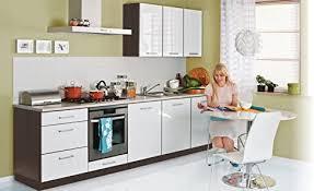 fiwodo einbauküche 300cm weiss hochglanz lackiert erweiterbar küche günstig küchenzeile