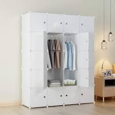 KOUSI Portable Closets Wardrobe Closet Wardrobe In Closet Armoire Wardrobe Closet Bedroom Armoire Room Closet With Doors Storage Organizer With Doors
