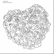 Outstanding Printable Adult Coloring Pages Hearts With Free Flower For Adults And
