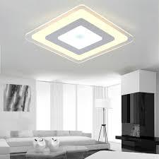 moderne deckenleuchte led minimalistisch eckig im esszimmer