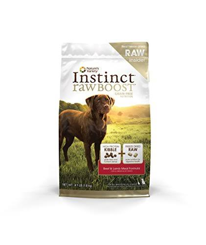 Instinct Raw Boost Grain Free Beef & Lamb Meal Formula Natural Dry Dog Food by Nature's Variety, 4.1 lb. Bag