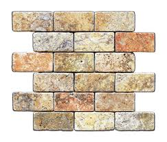 scabos 2 x 4 tumbled travertine brick mosaic tile box of 5 sq ft
