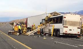 Photos: 13 Dead, 31 Injured In California Bus Crash | National ... Accident Snarls Traffic On Sb 15 Freeway Wednesday Night Victor More Tough Tesla Headlines This Week Cluding Troubling Video Trophy Truck Crash On Finish Line At Baja 1000 2017 Youtube Slams Into Fire Truck Stopped Red Light In Utah Las Vegas Witness Called 911 Twice Before Fatal Dump Medium Duty Multiple People Killed When Tour Bus Collides With Semitruck Weekend Mojave Offroad Race Approved Following Deadly Crash Nbc Video Drowsy Driving Leads To Nevada Memorial Ride Fundraiser Happening Today For Local Woman Daughter 8 Dead 12 Hurt Calif Desert Southern 395 California Stock Photos
