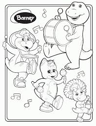 Barney Coloring Pages Free Printable For Kids Gallery Ideas