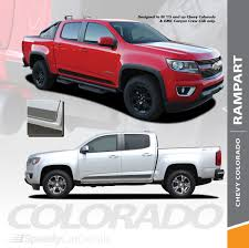100 Supreme Truck Chevy Colorado Side Stripes Graphics RAMPART 2015 2016 2017 2018