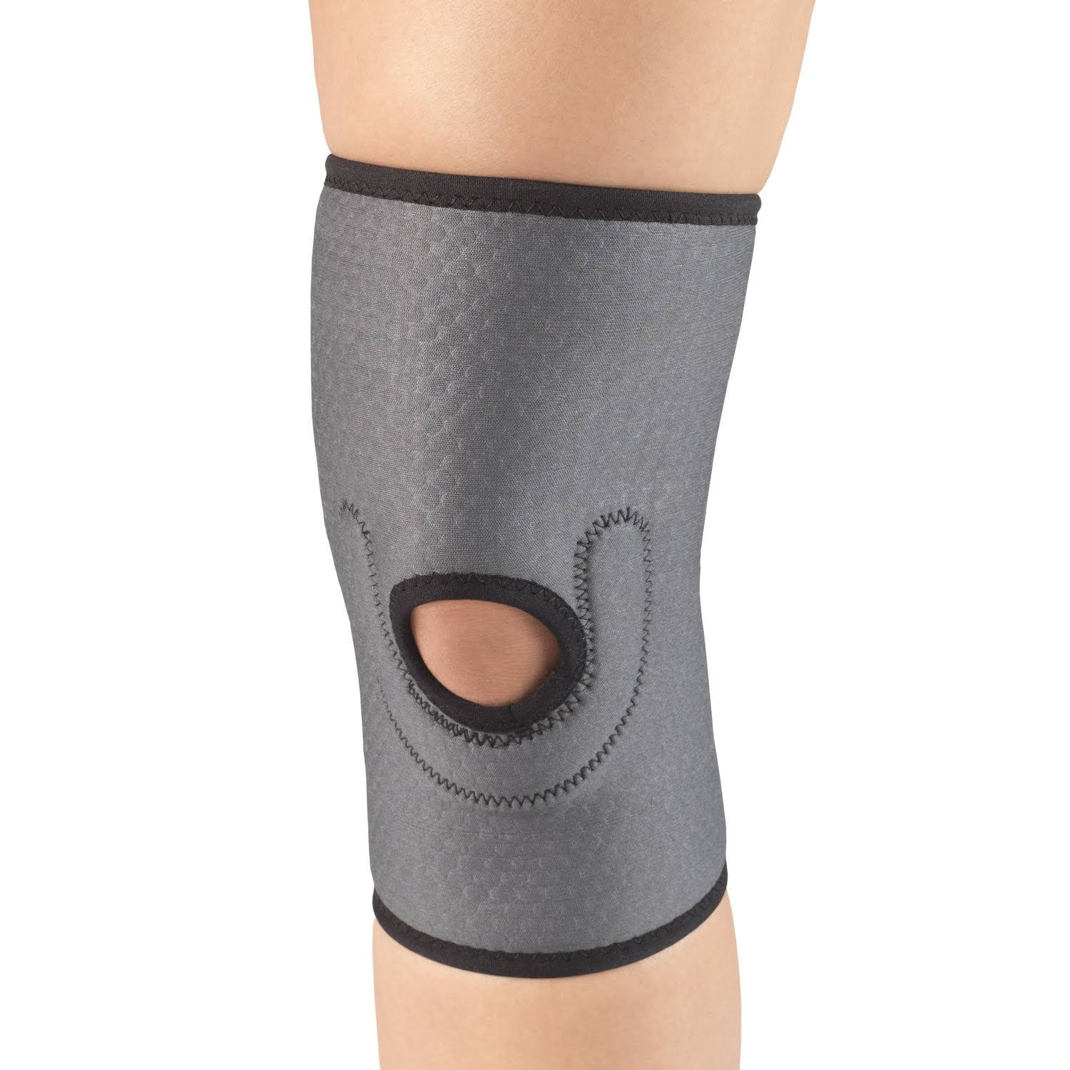 Champion Airmesh Knee Support with Stabilizer Pad, Grey, Small, Gray