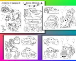Disney Cars Birthday Party Coloring Pages Activity Book PDF