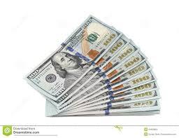 Stack New 100 Dollar Bills Stock Image