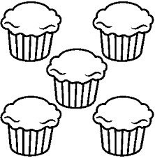 342x350 Cupcake Clipart Black And White