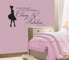 Girls Bedroom Wall Decor 8 Classy And Fabulous Decal Coco Chanel Quote Room Art Girl