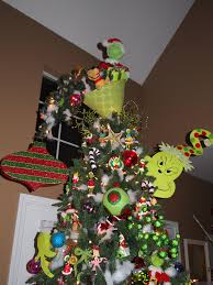 Grinch Christmas Tree Topperupside Down Lampshade With One Of The Small Outdoor Pathway Trees Wired To Make It Look Whimsical Like Whoville