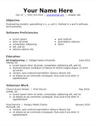 Objective Skills Volunteer Experience Resume Template