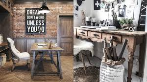 Ideas To Decorate An Office With Rustic Style