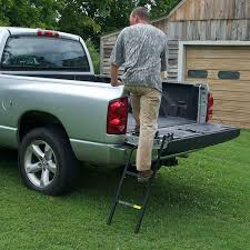 100 Truck Tailgate Steps Foldable Ladder Folding Pickup For Bed Step Heavy Duty Steel