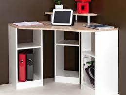 bureau ordinateur blanc bureau informatique d angle en bois longueur 94cm hades