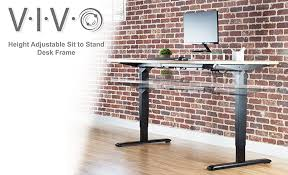 Ergo Elements Standing Desk by Amazon Com Vivo Electric Stand Up Desk Frame W Dual Motor And
