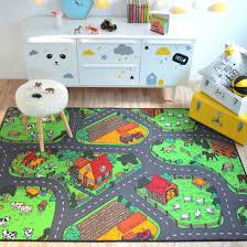 tapis de jeux voitures tapis de jeu circuit voiture cagne 145 x 200 cm decoweb