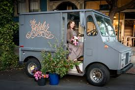 Who Has The Cutest Flower Truck In Land Our Sweet And Dear Friend Rebekah Of Petaler She Will Be Selling Flowers Today Friday 8th