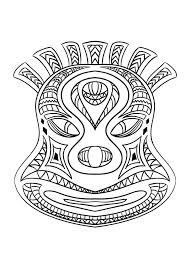 Coloring Picture Of An African Mask
