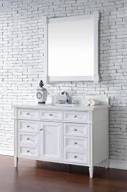 48 Inch Double Sink Vanity Top by Contemporary 48 Inch Single Bathroom Vanity White Finish No Top