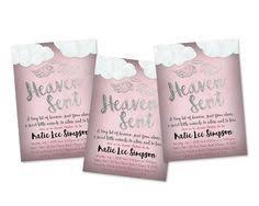 Get The Rose Pink Rustic Style Heaven Sent Baby Shower Invitations Youve Been Looking