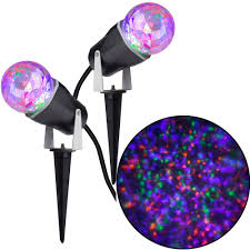 2 pack gemmy projection kaleidoscope led light stakes 7 49 at