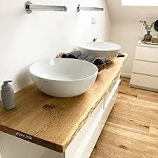 waschtischplatte eiche massiv baumkante geölt waschtisch