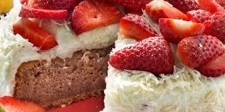 dessert aux fraises gâteau fraises coco recettes femme actuelle