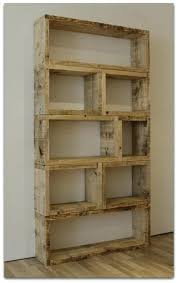 Recycled Wood Bookcase Beautiful Reclaimed Bookshelves On An Open Bookshelf Made From Simple