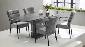 esstisch joana 160x90 glas grau marmoriert ausziehbar
