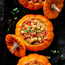 Pumpkin Risotto Recipe Vegan by Quinoa Risotto Stuffed Pumpkins Full Of Plants