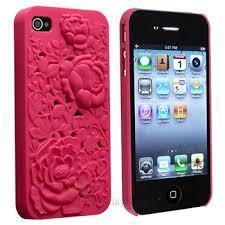 Pink 3D Sculpture Design Rose Flower Hard Plastic Cover Case for