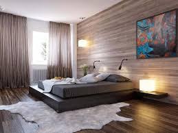diy bedroom makeover wooden platform bed frame gray fabric