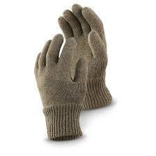 czech military surplus wool glove liners 4 pack used 230039