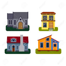 Images Front Views Of Houses by Houses Front View Vector Illustration Houses Flat Style Modern