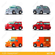 100 Build Your Own Truck Flat 3d Isometric Funny Road Transport Icon Set Van Hatchback