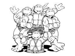 Ninja Turtles T Shirt Ninga TurtlesFree Coloring PagesColoring