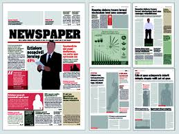 Typesetting Newspaper Vector Templates 03