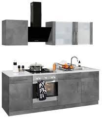 wiho küchen küchenzeile cali mit e geräten breite 220 cm kaufen otto