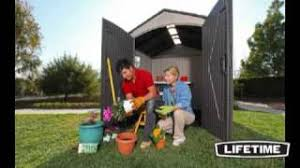 Roughneck 7x7 Shed Instructions by Lifetime 7x7 Storage Shed 60042 Youtube
