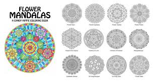 Flower Mandalas Adult Coloring Book By Candy Hippie