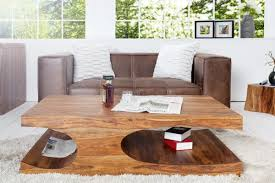 casa padrino designer solid wood coffee table nature b120 x h40 x d70 cm living room table