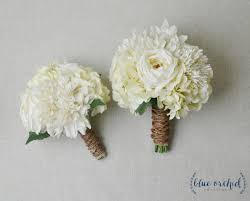 Wedding Bouquet Bridal Silk Flower Fall Shabby Chic